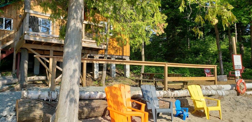 Cedars cottage from beach