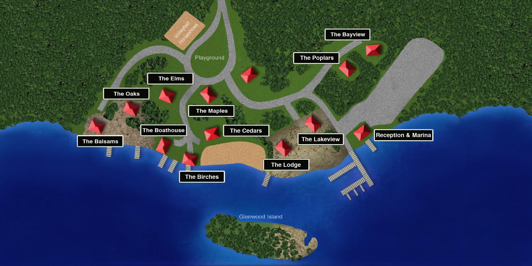 Glenwood Resort Map